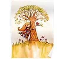 tree hugs Poster