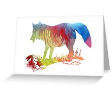 Fox and prey Greeting Card