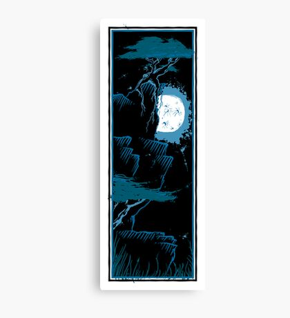 Two Trees - Moon 2 Canvas Print