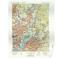 USGS Topo Map Maryland Washington East 256974 1951 24000 Poster