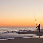 Fishing at Lakes Entrance by Keith Smith