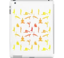 Yoga Positions In Gradient Colors iPad Case/Skin