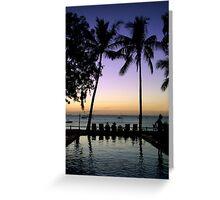Tropical Serenity Greeting Card