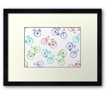 Bicycles doodle Framed Print