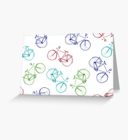 Bicycles doodle Greeting Card