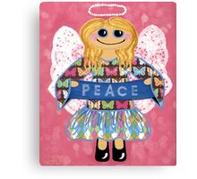Butterfly Peace Angel - she has a message for all of us. Canvas Print