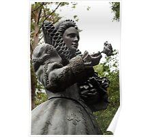 Queen Elizabeth Statue Poster