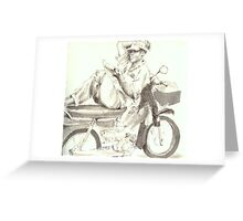 My motorbike is my home Greeting Card