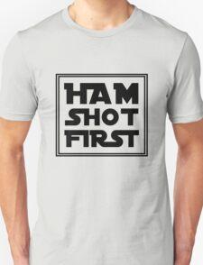 Ham Shot First - Black Unisex T-Shirt
