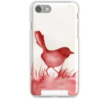 Sparrow in red iPhone Case/Skin