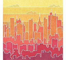 Rainbow city urban landscapes Photographic Print