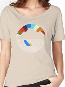 Last Man On Earth Rainbow Mountain w/ Waves Phil Miller Women's Relaxed Fit T-Shirt