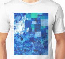 Blue puddle square peg Unisex T-Shirt