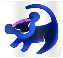 Simba (Blue) Poster