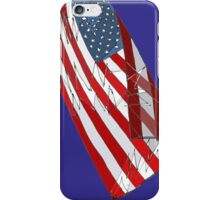 American Flag - Red, White and Blue Sketch iPhone Case/Skin