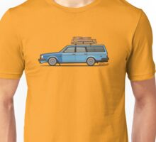 Volvo 245 Brick Wagon 200 Series Blue Shopping Wagon Unisex T-Shirt
