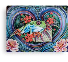 Floating Tree Frog Canvas Print