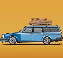 Volvo 245 Brick Wagon 200 Series Blue Shopping Wagon by Tom Mayer