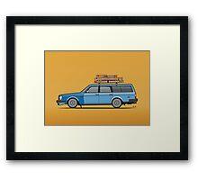 Volvo 245 Brick Wagon 200 Series Blue Shopping Wagon Framed Print