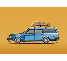 Volvo 245 Brick Wagon 200 Series Blue Shopping Wagon Photographic Print
