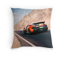 McLaren P1 King of the Desert Throw Pillow