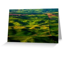 Furrows and Folds Greeting Card