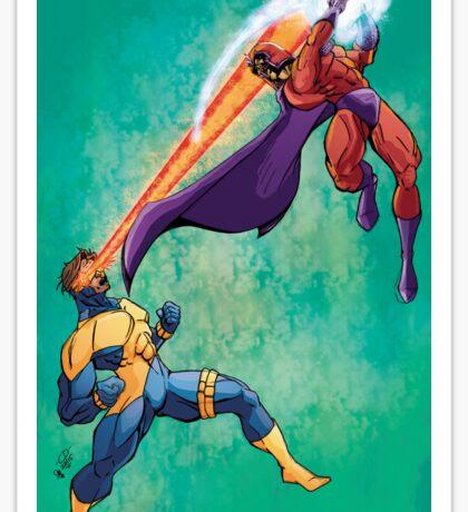 Cyclops v Magneto Sticker