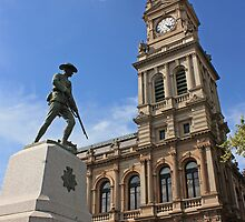 The old post office and war monument in Bendigo by kitkat73
