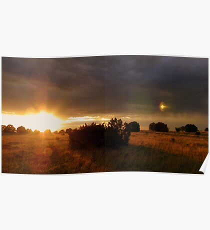 Eastern Arizona Sunset and Flare Poster