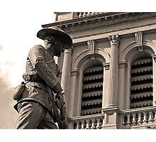 Detail of South African war memorial in Bendigo Photographic Print