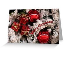 Christmas red and white - card Greeting Card