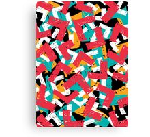 Abstract grunge hipster pattern design Canvas Print