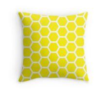 Yellow Honecomb Pattern Throw Pillow