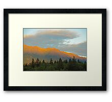 Evening's Glow Framed Print