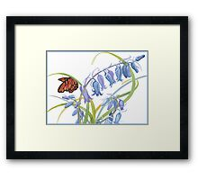 Delicate Perch Framed Print