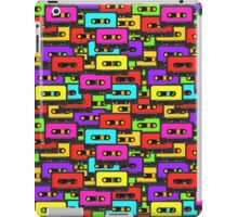 Colorful 80s analoge audio tapes iPad Case/Skin