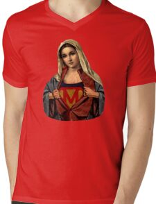 Supermary Street Art Mens V-Neck T-Shirt