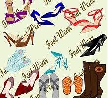 A crazy collection of footwear  by aldona