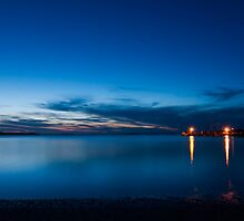 After Sunset at Pearson Park Soldiers Point  by Chris  Randall