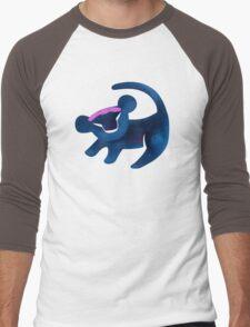 Simba (Dark Blue) Men's Baseball ¾ T-Shirt