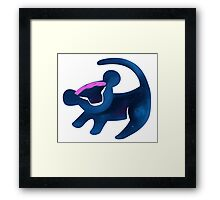 Simba (Dark Blue) Framed Print