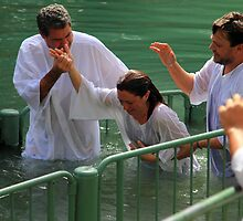 Baptised in the Jordan river #14 by Moshe Cohen
