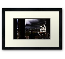 living in dystopia Framed Print