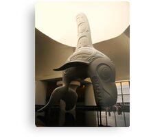 Haida Sculpture- Killer Whale Metal Print