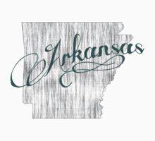 Arkansas State Typography Kids Tee