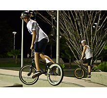 Learning, BMX style Photographic Print