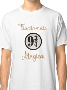 Fractions are Magical - Platform 9 3/4 Classic T-Shirt