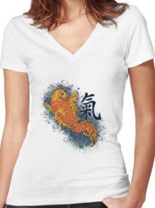 Japanese Coy Fish Japan Women's Fitted V-Neck T-Shirt