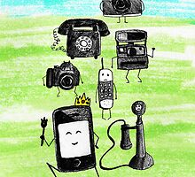 Sad Phones and Cameras by tracyannjones