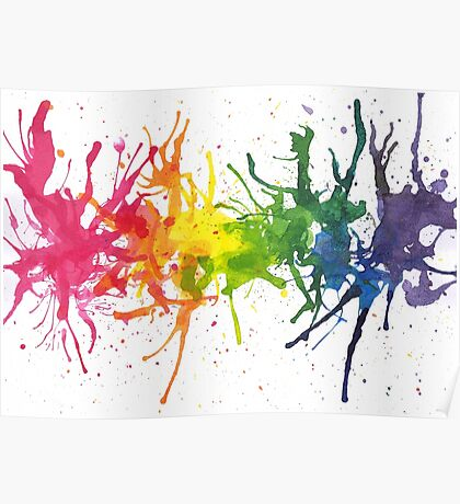 Rainbow Stains Poster